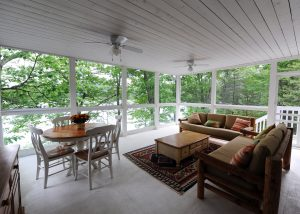 Muskoka room at Island View Cottage