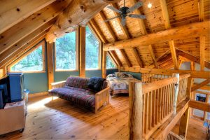 The loft of Logger's Lookout