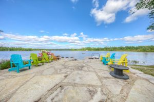 lakeside patio and seating