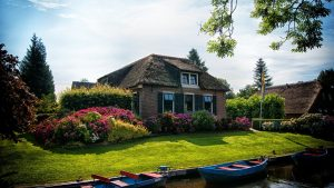 Cottage property, gardens and boats