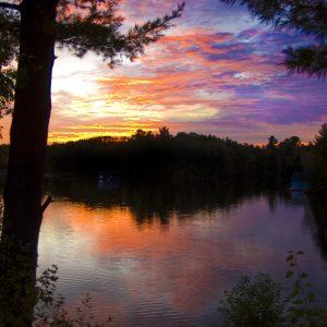 2005 Muskoka Lake of Bays Sunset Larry Wright DSC_0027 - Copy